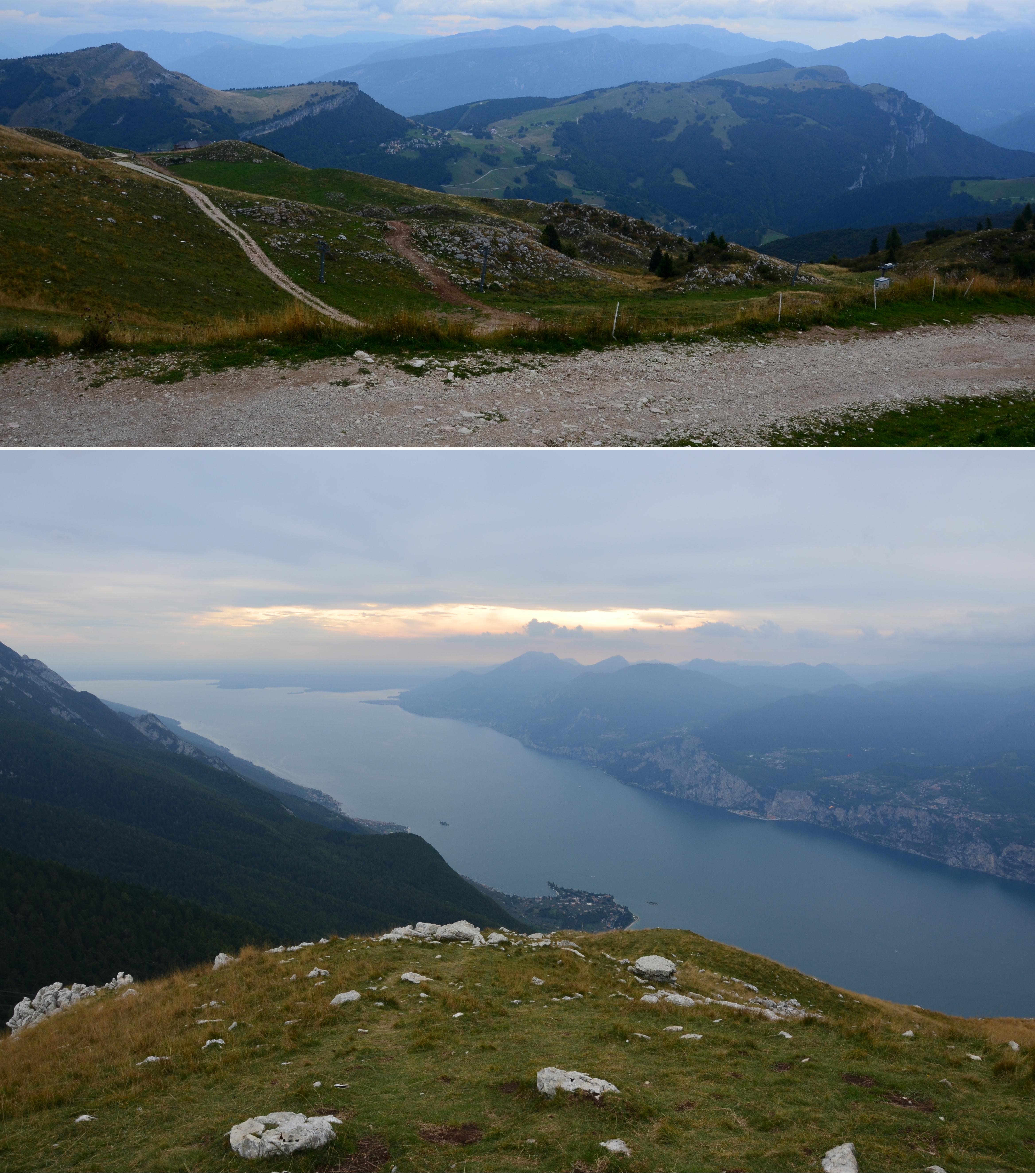 Pohoří Monte Balda (1650 m n. m.) a pohled na Lago di Garda (provincie Verona, Itálie), (Foto: K.K.)